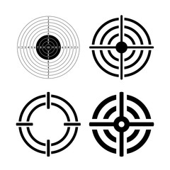 Shooting round target vector icon