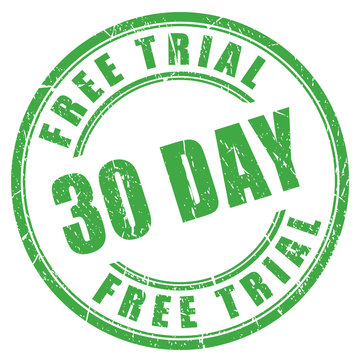 30 day free trial stamp