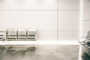 Concrete airport interior