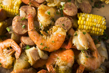 Homemade Traditional Cajun Shrimp Boil