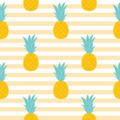Pineapple Natural Seamless Pattern Background Vector Illustratio