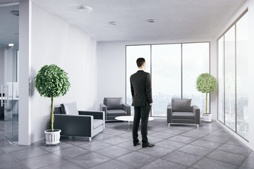 Man waiting for meeting