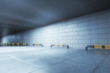 Concrete tunnel side