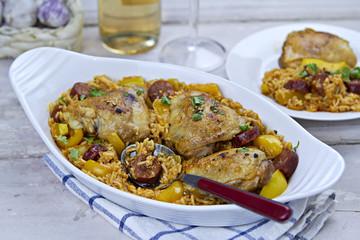 Chicken Chorizo Rice Pot