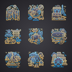 Travel detailed icons