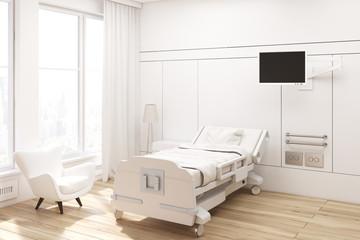 Corner of a hospital ward