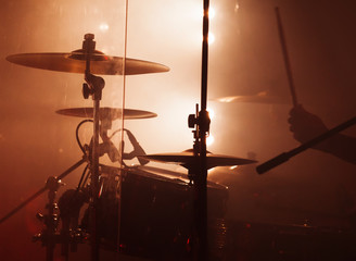 Rock drum set  with cymbals