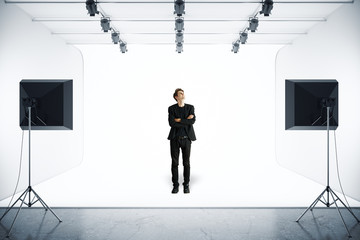 Man in photo studio