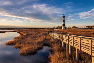 Scenic lighthouse, Outer Banks, North Carolina Wall mural