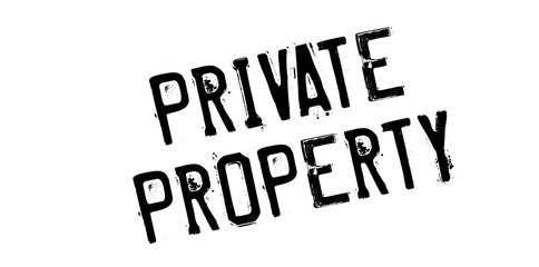 Private Property rubber stamp. Grunge design with dust scratches. Effects can be easily removed for a clean, crisp look. Color is easily changed.