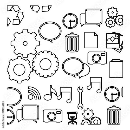 Figure technology icons background vector illustraction design f - Figure libre architecture ...