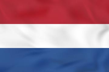 Netherlands waving flag. Netherlands national flag background texture.