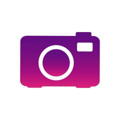 purple camera photo icon, vector illustraction design