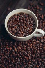 coffee tea mug beans