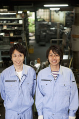 Young Male Factory Workers