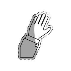 Human arm silhouette icon vector illustration graphic design