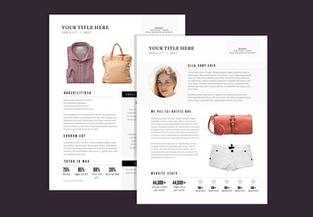 Chic Media Kit Layout