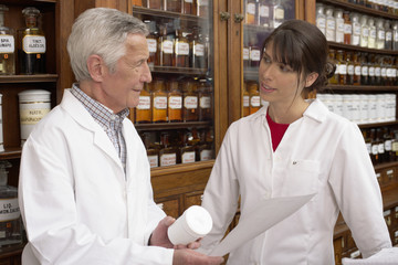 Two pharmacists talking