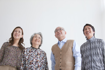 Senior Couple with Adult Daughter and Son