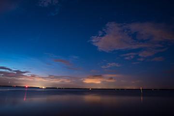 Blue and Orange Sky Sunset over Florida lake