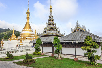 Burmese Architectural Style temple in Thailand