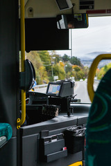 Terminal for buying an electronic ticket on the bus. Buy tickets via mobile application.