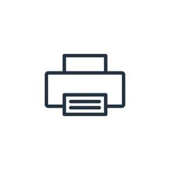 printer line icon on white background