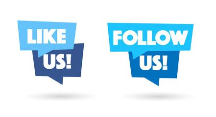 Like us / Follow us