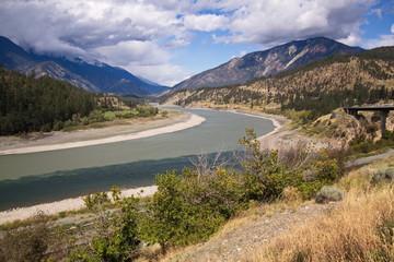 Zusammenfluß von Thomson River und Fraser River bei Lytton