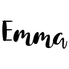 Female name - Emma. Lettering design. Handwritten typography. Vector