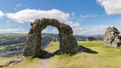 Castell Dinas Bran, near Llangollen, Denbighshire, Wales, UK
