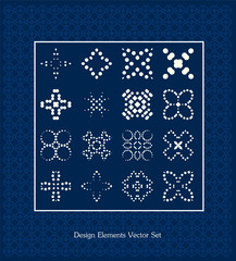 Pattern elements set. Vector illustration. Design signs template collection