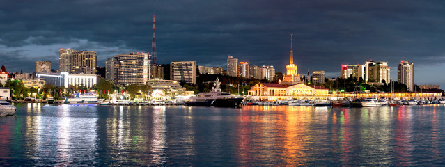 Seaport of the city of Sochi