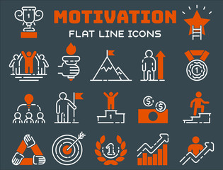 Motivation concept chart icon business strategy development design and management leadership teamwork growth career idea creativity office training vector.