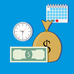 Time salary vector