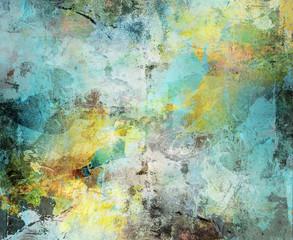 abstrakt cyan- grau- gelbockertöne