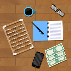 Accounting workplace vector