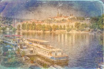 Prague art texture illustration