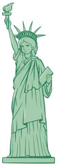 Statue of liberty on white background