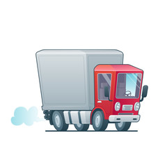 Cartoon fast delivery truck icon