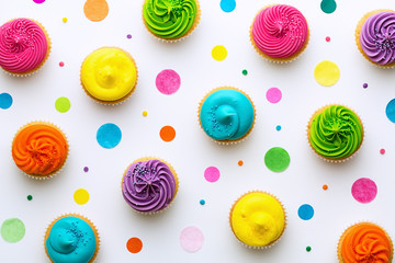 Wall Mural - Cupcake background