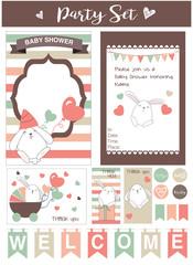 Baby Shower/Bday printables set