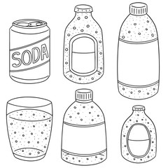 vector set of soda