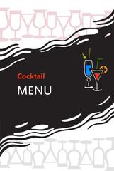 Cocktail menu cover