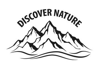 Mountain range silhouette isolated vector illustration