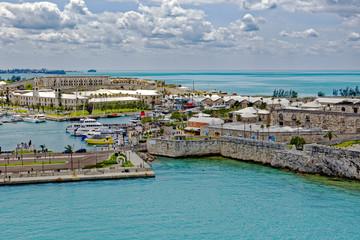 View of the old Royal Naval Dockyard on Ireland Island in Bermuda