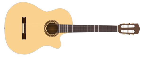 acoustic guitar stock vector illustration