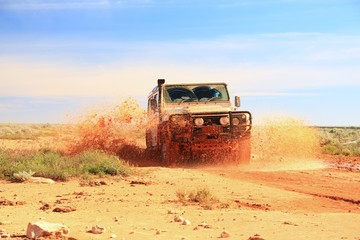 Adventure driving in Australian outback