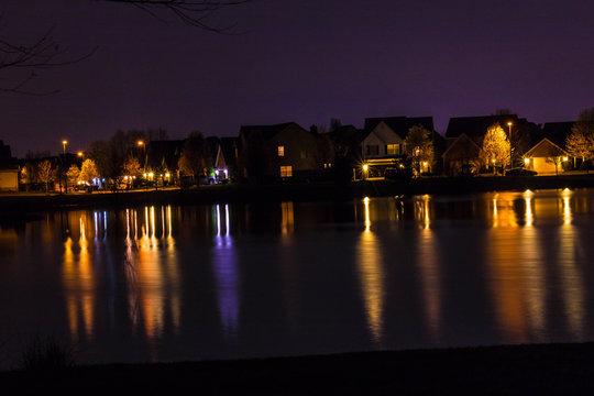 Reflection of city light, Lexington KY