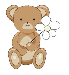 Teddy bear with a flower